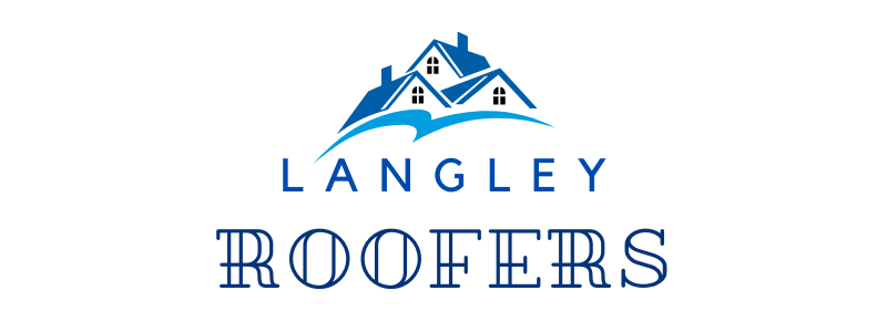 this image shows langley roofers logo